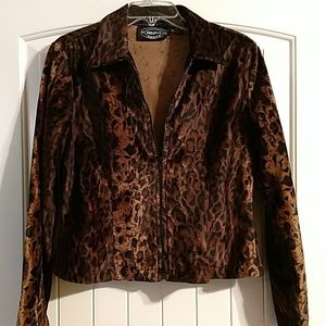 Selene sport leopard animal print jacket